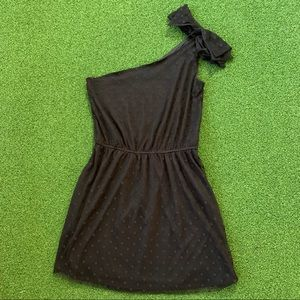 ZARA TRF Dress Black Party One Shoulder Mini Sz M